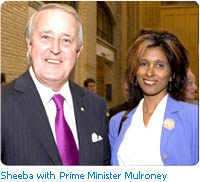 Sheeba With Prime Minister